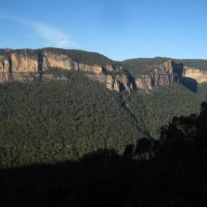 The view out over the Grose Valley from Pierces Pass, Blue Mountains, NSW