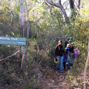 Descending the Bullawarring Track en route to Kingfisher Pool, Heathcote NP