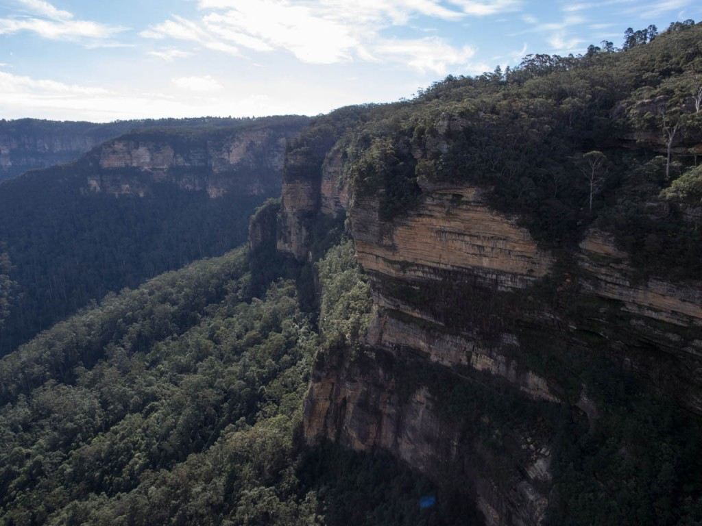 View towards Submlime Point, Rocket Point lookout, Wentworth Falls NP