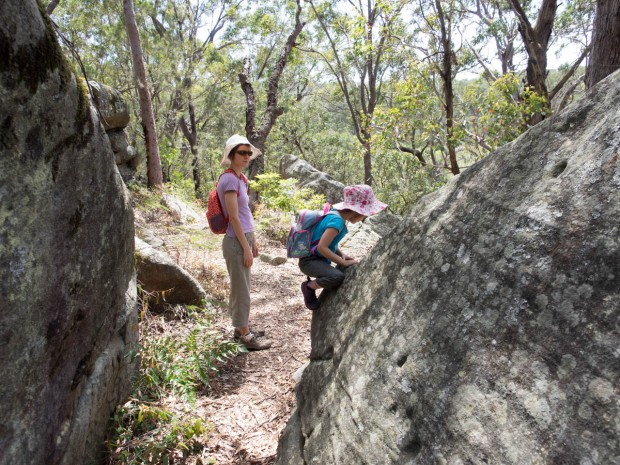 Clambering, Georges River NP