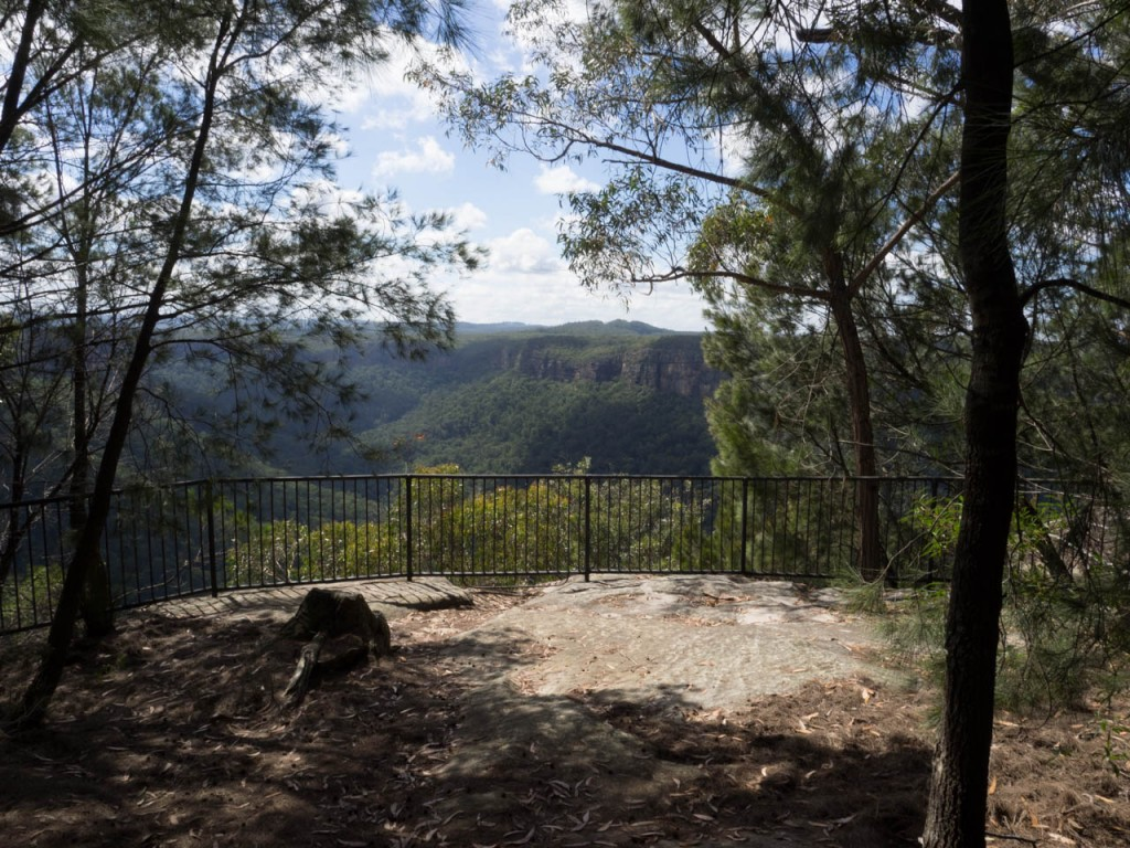 The Riverview lookout gives you a glimpse into the wondrous escarpment country of Morton NP
