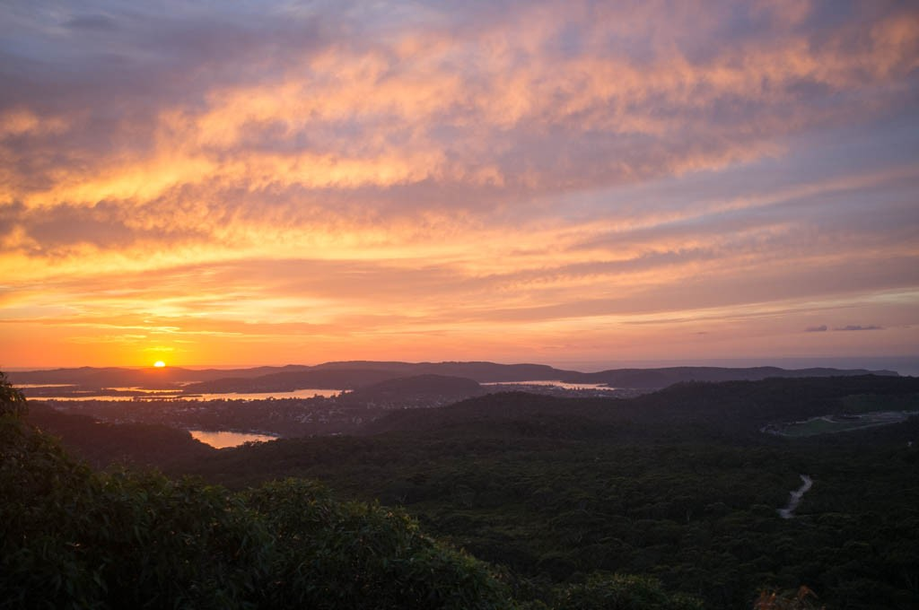 Sunrise over the Hawkesbury River, Brisbane Water National Park