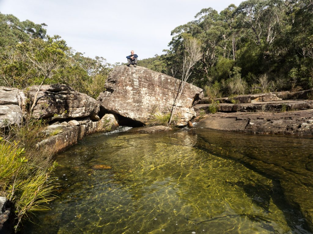 massive boulder at Kangaroo Creek Pools