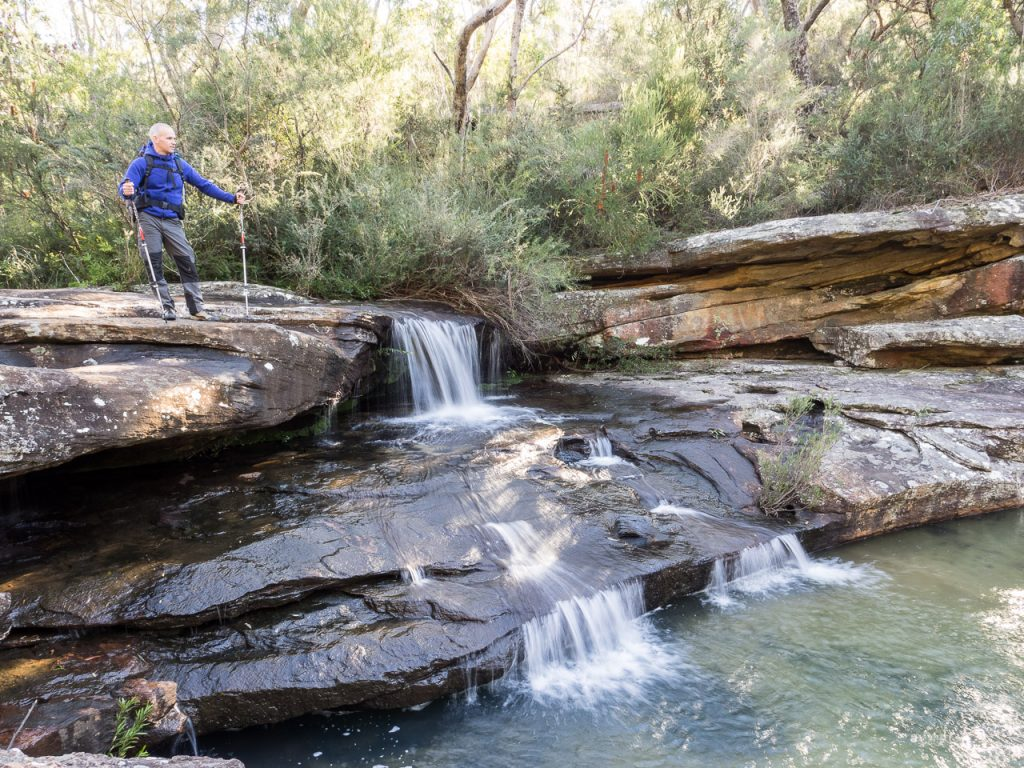 a beautiful small cascade on Kangaroo Creek