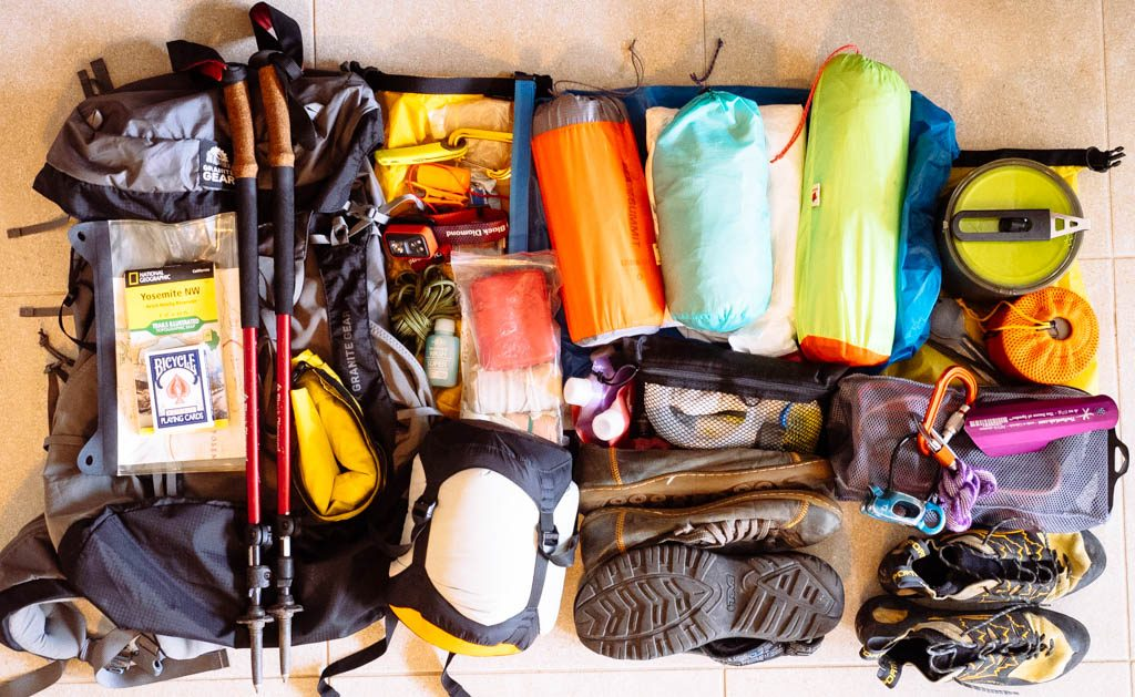Hiking Gear on floor